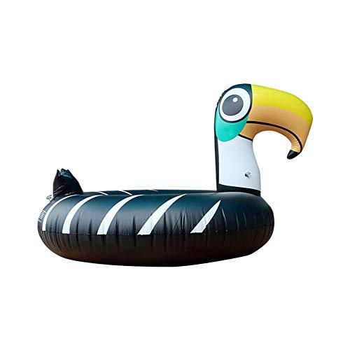 lefeindgdi Toucan - Flotadores de piscina, inflables de tubo de natación para adultos y niños de verano al aire libre divertido fiesta de agua