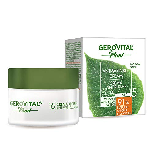 Gerovital Plant, Crema antiarrugas, Microbiom Protect SPF15, Tipo de piel: Normal, 50 ml