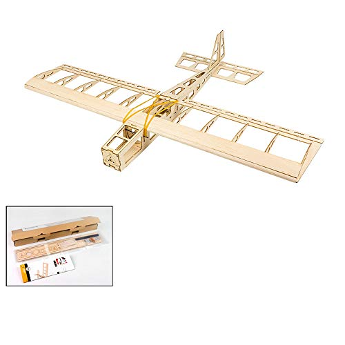 Dancing Wings Hobby Balsa Wood Aircraft 580mm Mini Stick Electric Training Sport Airplane Need to Build for Adults (R0301)