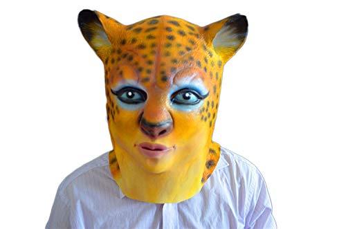 HANLING- Máscara Leopardo Terror Demonio Fiesta Maquillaje