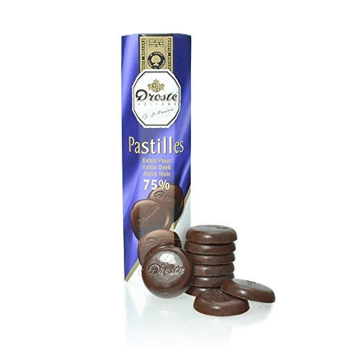 Pastiglie al cioccolato fondente | Droste | Pastiglie al cioccolato scure | Peso totale 100 grammi