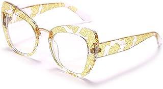 Powzz ornament - 2021 nuevas gafas de ojo de gato para mujer y hombre, anteojos de ordenador, gafas ópticas, gafas de sol con luz antiazul, gafas UV400-6_CN