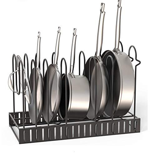 41nMdftldcL. SL500  - GFDFD Multi-funtion Pot Pan Lagerregal 5 Ebenen Pot Bratpfanne Deckel Lagerregal Organizer Küche Kochgeschirr Standhalter