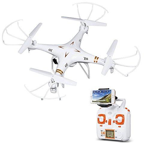 Hawkeye Quadricottero RC Wifi FPV 3D Flip 2.4GHz 6- assi Modalità Headless Funzione di ritorno automatico Drone RC con camera compatibile con iOS ed Android