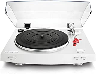 Audio-Technica AT-LP3WH Fully Automatic Belt-Drive Stereo Turntable, White (Renewed)