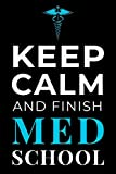 Keep Calm and Finish Med School: Funny Medical Student Notebook Journal Gift