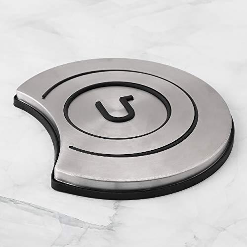 Awada Salvamanteles de acero inoxidable con forma de media luna, protege tu mesa de alimentos calientes, salvamanteles decorativos para...