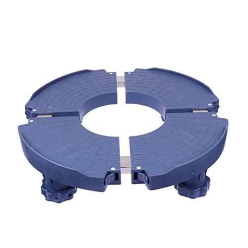 Holibanna Plant Caddy Heavy Duty Round Plant Roller Plastic Potted Plant Stand Med Hjul Runda Blomster Pot Rack På Ruller Vagnshjul (Mörkblå)