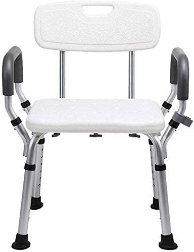 LIMEI-ZEN Shower Stool Free shipping on posting 5 ☆ very popular reviews Height Adjustable with Bath Stoo Backrest