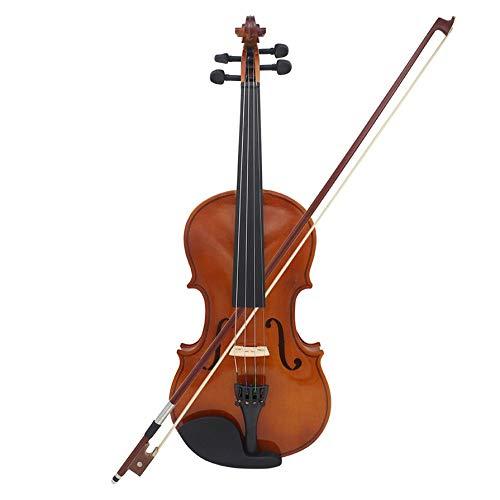Full Size 4/4 viool natuurlijke akoestische massief houten viool met koffer roze