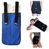 Large Reusable Gel Ice Pack for Injuries (12 X 20 Inches) Adjustable Straps - Premium Quality Hot Cold Pack - Pain Relief Wrap for Lower Back, Knees, Hips, Muscle Strains by Life and Limb Gel