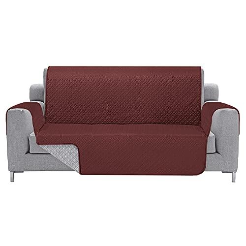 Funda Cubre sofás Bicolor (Burdeo - Perla, 2 Plazas)