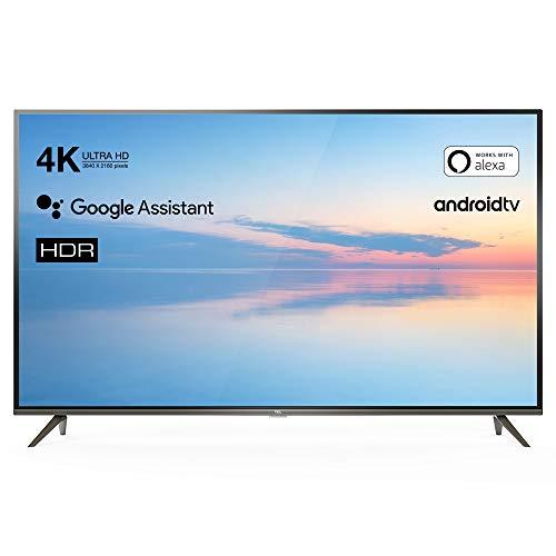 TCL   43EP641   Android TV con Assistente Google: Risoluzione 4k HDR, Accesso a Google Play Store, Dolby Audio integrato. Colore: Titanio, 43 Pollici (Classe energetica A+), Modello 2019