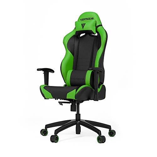 Vertagear VG-SL2000 PK, sedia da gaming, taglia media, Similpelle, Black/Green, medium