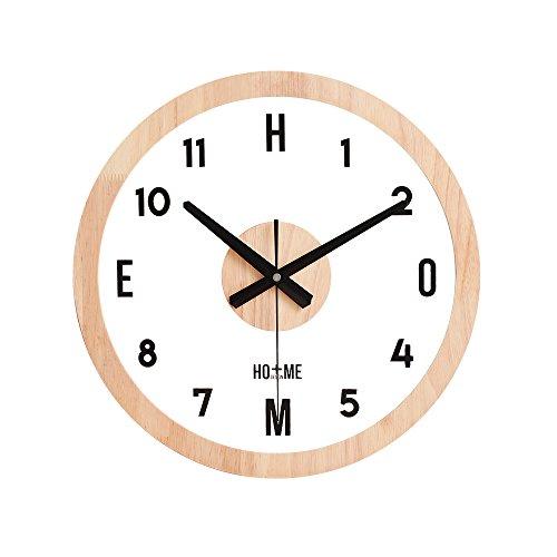 Creative Et Hyaline l'horloge Ronde Salon Et La Personnalité De l'art Minimaliste Moderne Transparent Chambre en Bois Solide Tranquille Montre Nordique