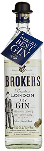 Brokers Gin Premium London Dry Gin 47% vol. (1 x 1 l)