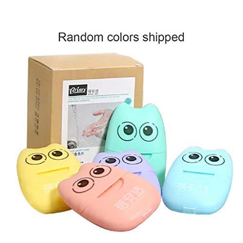 Utilisateur de 5 paquets de savon portable jetables format poche savon mini feuilles parfumées
