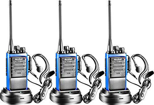 Arcshell Rechargeable Long Range Two-Way Radios with Earpiece Headsets 3