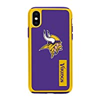 "Forever Collectibles iPhone XS/X 5.8"" Screen Only Dual Hybrid Impact Licensed Case - NFL Minnesota Vikings"