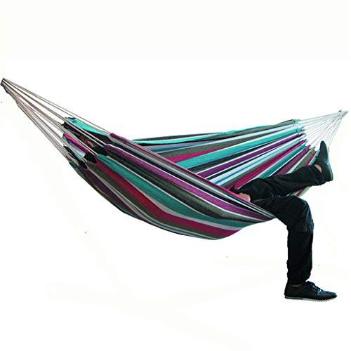 Acampar hamaca al aire libre cama colgante lienzo Mecedora no con el soporte 200 * 150cm,E