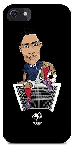 FFF beschermhoes voor iPhone 5/5S, motief: Raphaël Varane, officiële collectie van het Franse voetbalteam