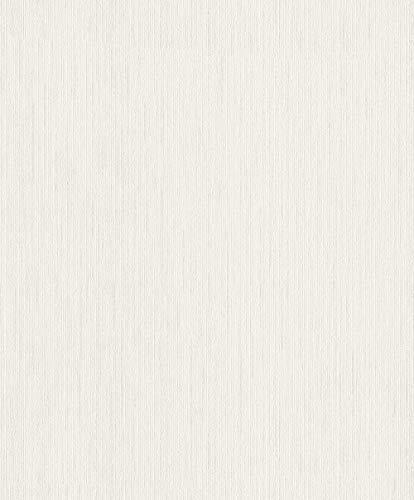 Rasch Tapeten (universell) Weiß 10,05 m x 0,53 m #ROCKNROLLE 536119 Vliestapete, 10,05 x 0,53 m