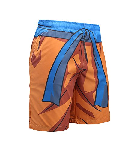 Huateng Stampa 3D per Uomo Fast-Dry Maglia Foderata Pantaloncini Sala Baule da Nuoto Pantaloncini da Spiaggia