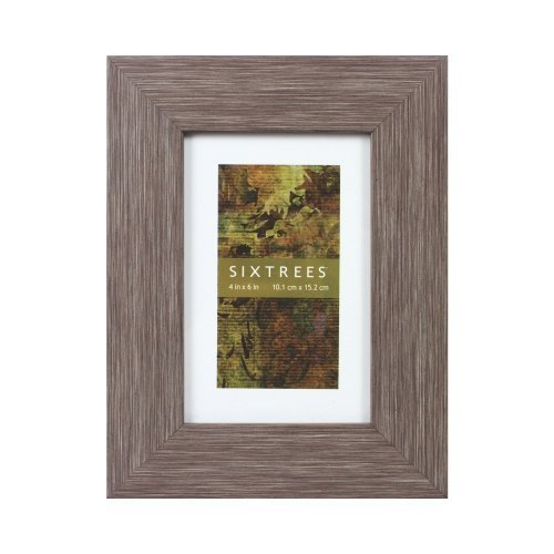 Sixtrees Carino Frame, 5 by 7-Inch, Stone by Sixtrees USA Ltd