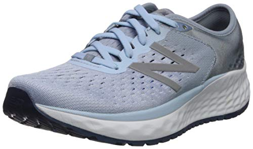 New Balance Women's 1080v9 Fresh Foam Running Shoe, air/Vintage Indigo, 7.5 M US