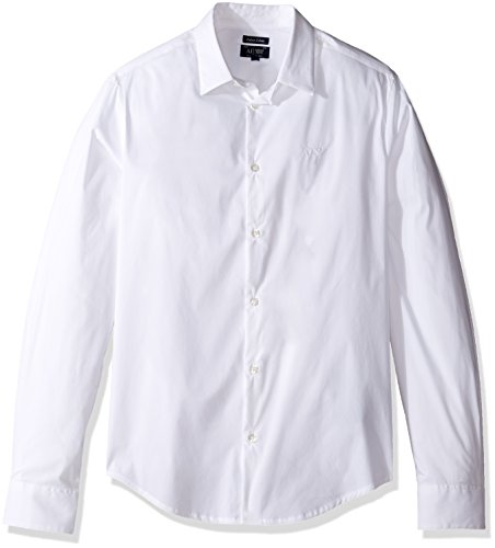 Camicia Uomo ARMANI 8N6C09 6N06Z Cotone Strech Autunno Inverno 2016 Bianco L