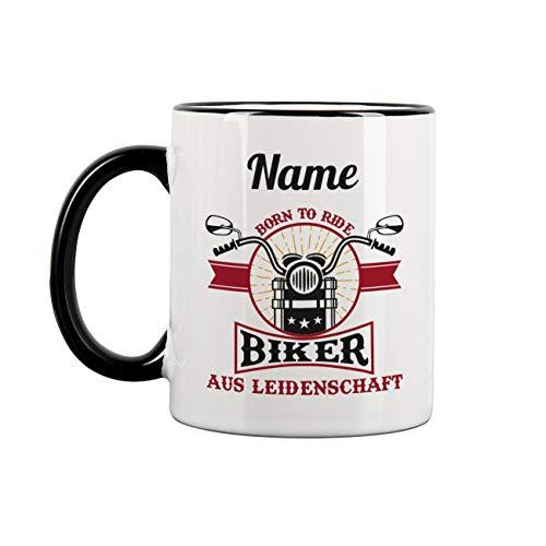 Herz & Heim® Personalisierte Tasse mit Namen für Biker
