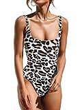 Honlyps Womens One Piece Swimsuits High Cut Bathing Suits Sexy Cheeky Bikinis Swimwear Print Monokini