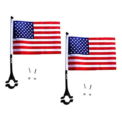 perfeclan 2X Banderas de Seguridad con Poste para Niños, Instaladas