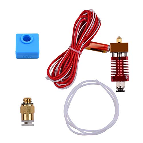 HUANRUOBAIHUO Metal Hotend Extruder Kit with 0.4mm Nozzle Aluminum Heating Block Silicone Sock 40W Suitable for Creality Ender 3D Printer Parts 3D Printer Extruders accessories (Color : 24V)