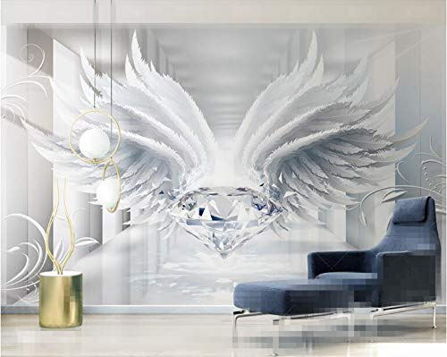 Benutzerdefinierte personalisierte tapete 3d raum diamanten und flügel europäischen stil muster TV hintergrund tapeten wohnkultur, 300 * 210 cm