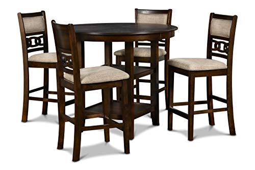 New Classic Furniture Gia Counter Dining Set, Cherry