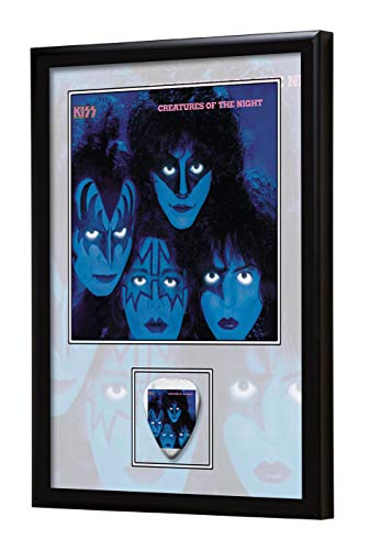 We Love Guitars Kiss Creatures of The Night EGA Gerahmtes Albumcover Gitarren-Pick-Display gerahmt
