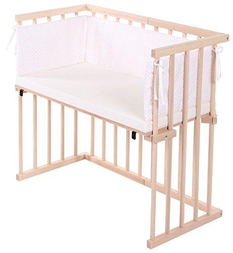 Dreamgood, culla da affiancare al letto, in legno di faggio, con materasso prime air