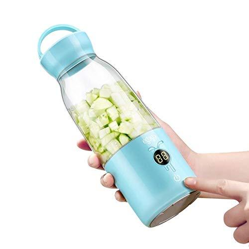 Licuadora Portátil Mini Usb Portátil Juicer Recargable Mezclador Y Mezclador de Frutas Adecuado para Batidos Y Batidos Mute Batería Recargable para Jugo Proteína Shake para Niños Comida, O&YQ, a
