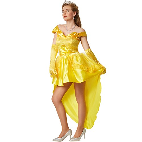 dressforfun Sexy Prinzessin Belle   Kleid mit eingenähter Unterrock aus Tüll   inkl. Langen Satinhandschuhen (S   no. 301868)