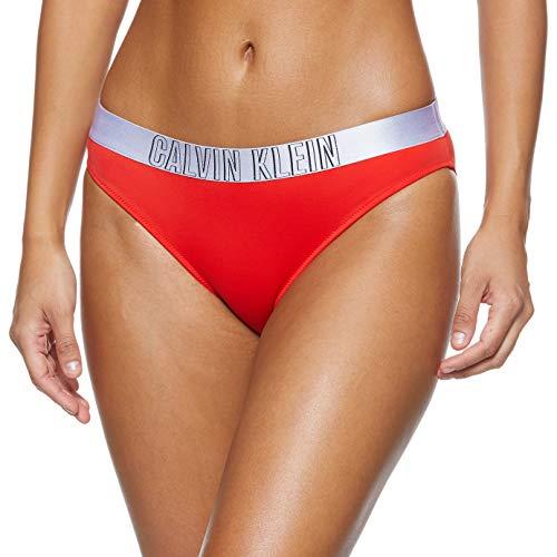 Calvin Klein Classic Bikini, Rosso (Fiery Red XA7), 40 (Taglia Produttore: X-Small), Donna