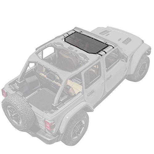 "Motor Trend WC100 Mesh Sunshade Bikini Top Cover for Jeep Wrangler 1987-2019 (JK, JL, CJ, YJ & TJ), Half Size 42.5"" x 26.5"""