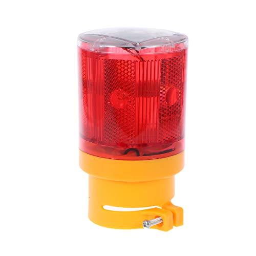 LEDMOMO LED Notfall Warnleuchte Wireless Solarleuchten Signal Achtung Zeichen Lampe Licht (Rot Licht)