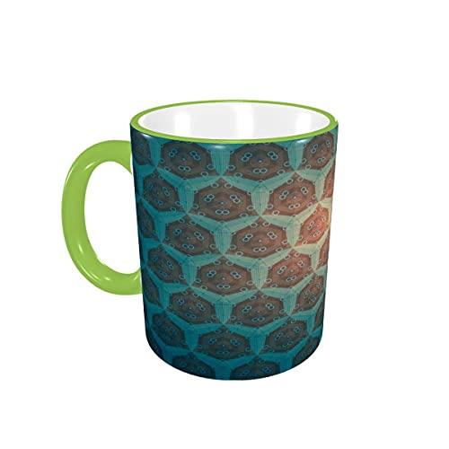 Taza de café Marvelous Turquesa Patrón Tazas de café Tazas de cerámica con Asas para Bebidas Calientes - Cappuccino, Latte, Tea, Cocoa, Coffee Gifts 12 oz Orange