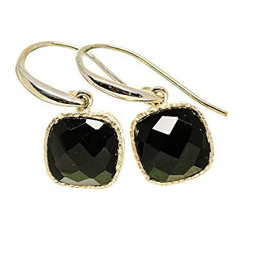 Ana Silver Co Black Onyx Earrings 1' (925 Sterling Silver)