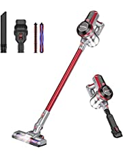 Hosome Cordless Vacuum Cleaner 220W Stick Vacuum 20Kpa 4 in 1 Handheld Lightweight Cleaner with Wall Mount, Powerful Upright Vacuum Cleaners for Floor Carpet Pet Hair Car, Up to 35 Mins Working Time.