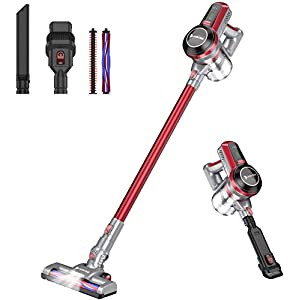 Hosome Cordless Vacuum Cleaner 20000pa Stick Vacuum 4 in 1 Handheld Lightweight Cleaner with Wall Mount, Powerful Upright Vacuum Cleaning for Floor Carpet Pet Hair Car, Up to 35 Mins Working Time