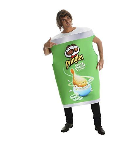 Karabu Tubo Disfraz Papas Fritas Pringles Crema Agria y Cebolla Talla nica Hombre Mujer