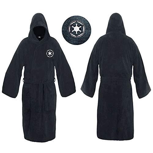 Peignoir de Bain Robe Flanelle mâle avec Capuchon épais Star Wars Jedi Empire Robe de Chambre Peignoir Hommes Hiver Robe Hommes Peignoir Pyjama (Color : Dark Grey 29, Size : M)