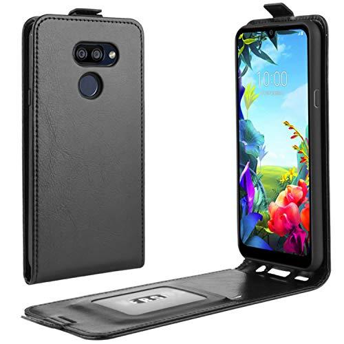HualuBro LG K40S Hülle, Premium PU Leder Brieftasche Schutzhülle HandyHülle [Magnetic Closure] Handytasche Flip Hülle Cover für LG K40S Tasche (Schwarz)